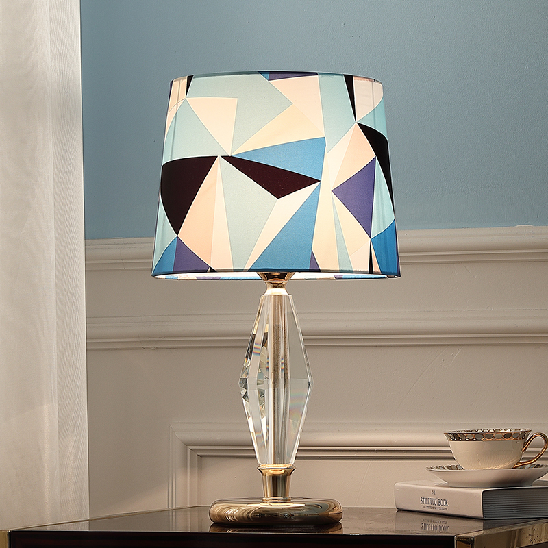 Modern Rhombus Crystal Bedroom Bedside Table Lamp Luxtry Wedding Decoration Multicolor Geometric Lattice Lampshade Table Light Table Lamps Aliexpress