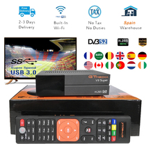 New GTmedia V9 Super Satellite Receiver Freesat Updated V8 Nova with CCcam Cline for 1 Year spain freesat v9