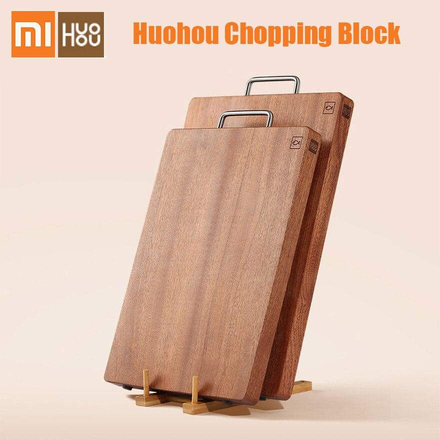 Xiaomi Huohou bloc à découper pour viande fruits légumes Bar outils de cuisine bois d'ébène planche à découper épaisse S L