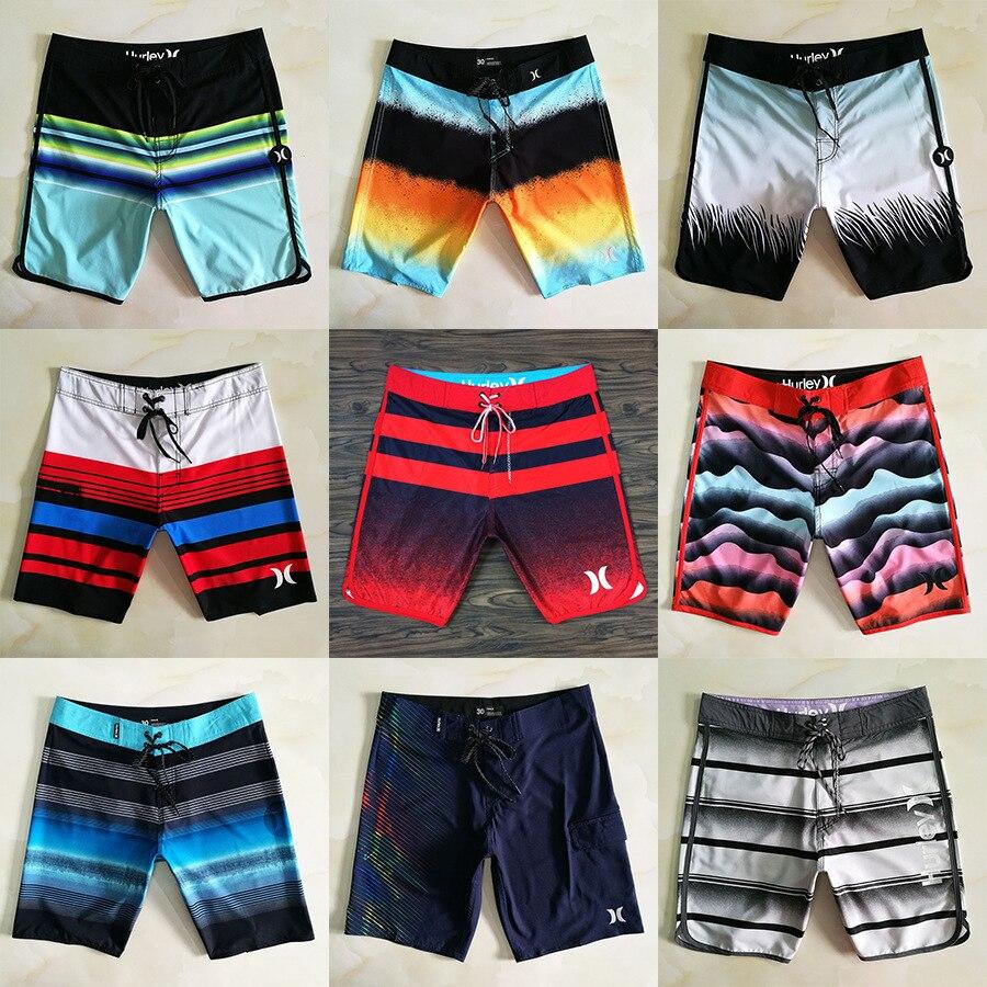 2019 new Hurley brand Beach Pants male loose quick-dry black swim trunks blue surf   shorts   bathing bottoms