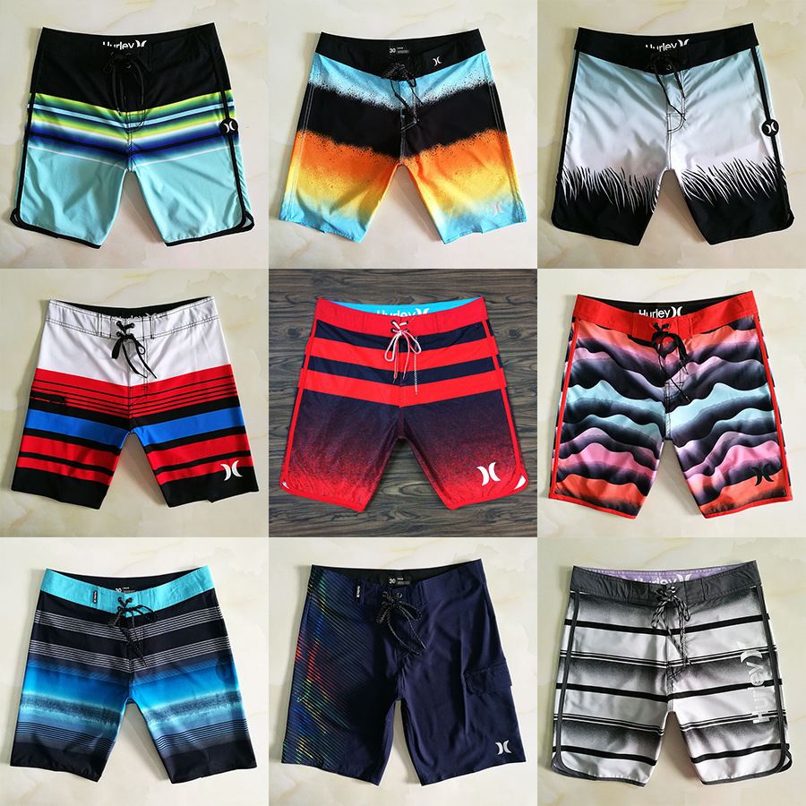 2019 New Hurley Brand Beach Pants Male Loose Quick-dry Black Swim Trunks Blue Surf Shorts Bathing Bottoms