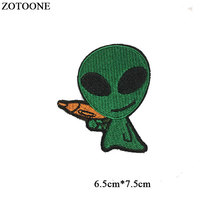 ZOTOONE Iron on Cute Alien Patches for Clothing T-shirt Cool Badges Embroidered DIY Cool Patch Sew Stripe on Clothes Applique G