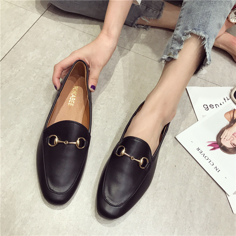 Women Flat Shoes 2019 Casual Fashion Slip-on Ballerina Woman Flats Split Leather Loafers Ladies Spring Autumn lady Footwear New(China)