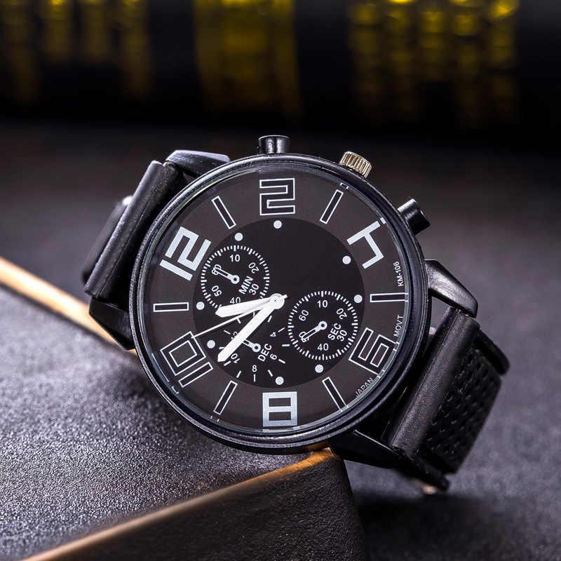 Moda topo marca de luxo militar couro masculino relógio de pulso casual esporte relógios para homem azul relógio cronógrafo relógio de pulso