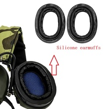 Hunting silicone earmuffs ear pads tactical headphones replacement accessories for MSA SORDIN headphones and IPSC headphones