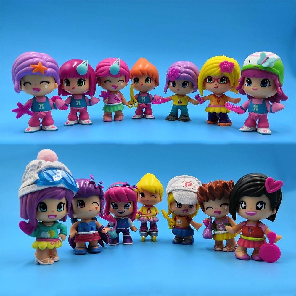 Real Picture Promotion 1-2 pcs/lot original cute Pinypon dolls Detachable Kids doubleface Action Toy Figures Dolls the best Gift