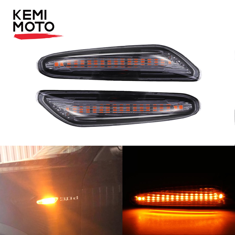 2pcs Car LED Side Marker Light Signal Indicator Lamps For BMW E82 E88 E60 E90 E91 E92 image