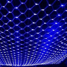 Сетчатый светильник светодиодный светильник s 6X4 м 220 в 110 В 8 режимов Сказочный светильник для занавесок для праздничной вечеринки наружное настенное свадебное украшение