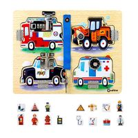 Wooden Montessori Children Cognitive Board Unlocking Education Toy Teaching Kids G99C