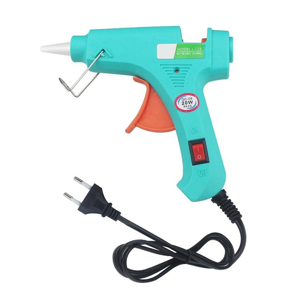 DIY Mini Guns Hot Melt Glue Gun Glue EU Plug Electric Heat Temperature Repair Heat Tool Removable Tool Power Tool Small Craft