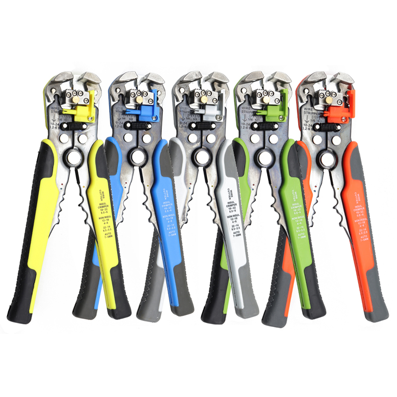 Pliers Cable Wire Stripper Cutter Crimper Automatic Multifunctional Stripping Tools Crimping Pliers Terminal 0.2-6.0mm Hand Tool