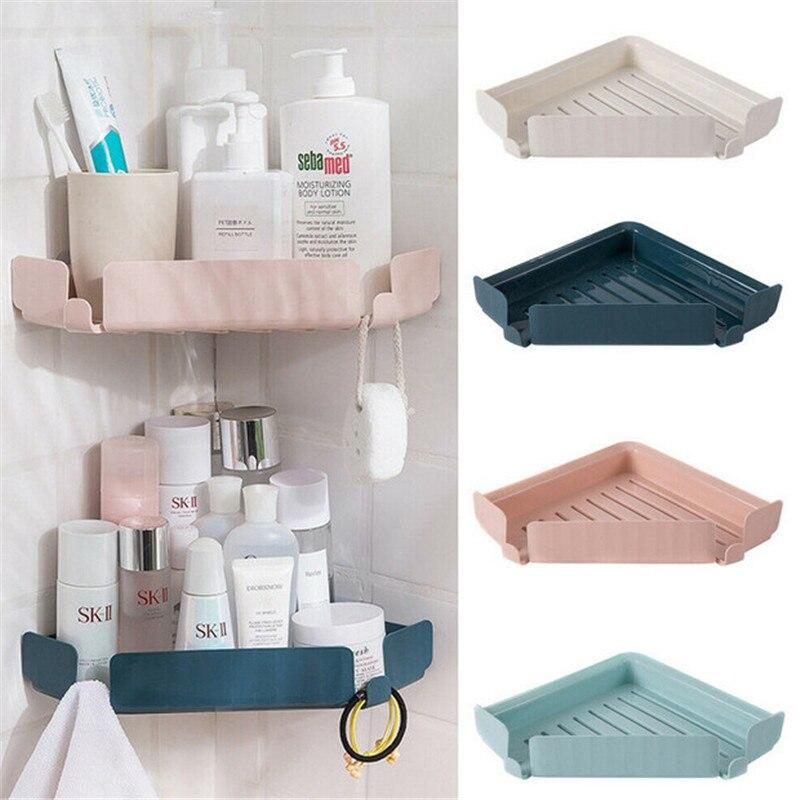 Triangular Shower Caddy Shelf Bathroom Corner Bath Rack Storage Holder Organizer