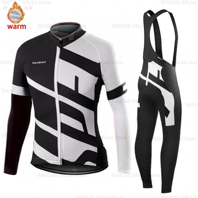 Conjunto de roupa de ciclismo masculina, camiseta e calça profissional de equipe para ciclismo mtb, calças, inverno, lã, 2020 triathlon 3