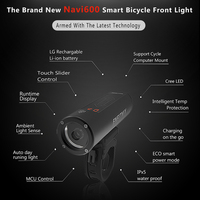 Nieuwe Licht Smart Koplampen Enfitnix Navi600 Usb Oplaadbare Road Mountainbike Smart Night Koplampen Voor Fiets Accessorie