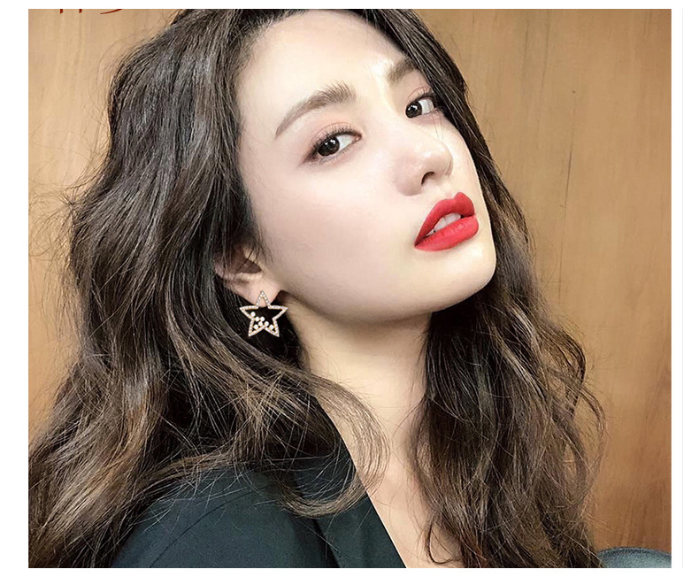 Fashion Hollow Out Five-pointed Star Stud Earrings Korean Pearl Charms Earrings Elegant Jewelry 2020 New Accessories
