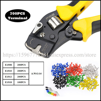 FASEN Hand tools mini-type self-adjustable crimping plier VSC10 16-4A Special 23-5AWG  four-sided crimp Tweezers Knife