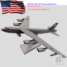 WLTK 1/200 Scale USA B-52 Stratofortress Strategic Bomber Diecast Metal Military Plane Model Toy For Collection/Gift wltk 1 144 scale military model toys ty 95 tu 95 bear bomber diecast metal plane model toy for collection gift kids