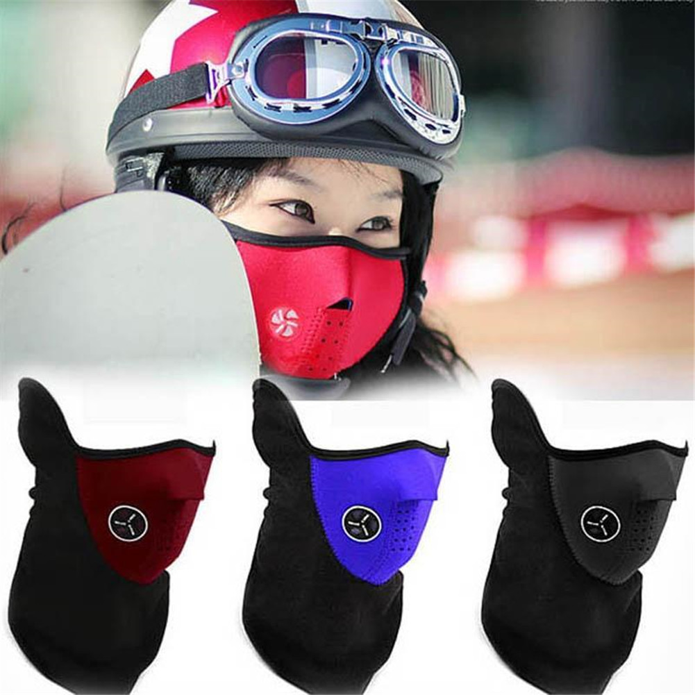 Motorcycle Half Face Mask Cover Cycling Riding Snowboard Ski Outdoor Sports Windproof Warm Winter Neck Face Mask