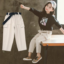 Pants For Girls Casual Style Girl Cargo Kids Cotton Simple Loose 4 5 7 9 11 13 Year Teenage Clothes