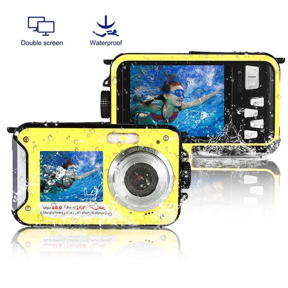 Appareil photo numérique professionnel pour enfants sous-marin 10FT Full HD caméscopes grand public pour garçons filles étanche Kamera double écran
