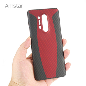 Image 2 - Amstar المزدوج اللون حقيقية ألياف الكربون واقية الحال بالنسبة OnePlus 8 برو جديد رقيقة جدا مكافحة سقوط حقيقي ألياف الكربون غطاء حالات