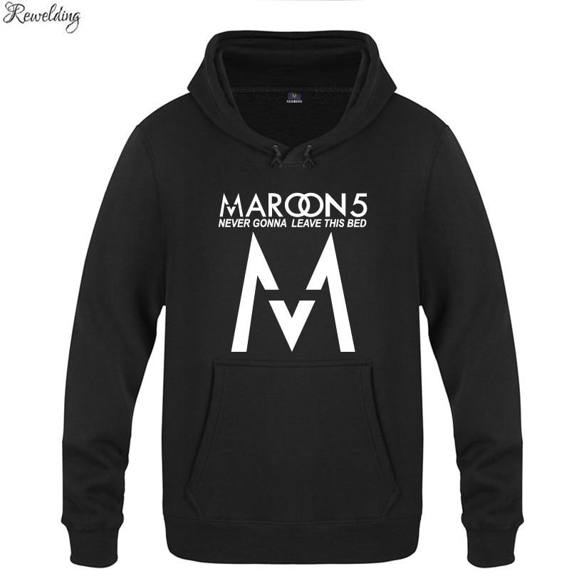 Rock Band Maroon 5 Hoodies Men Hip Hop Fleece Long Sleeve Pullover Sweatshirt Winter Skate Tracksuit Hoody Moleton Masculino