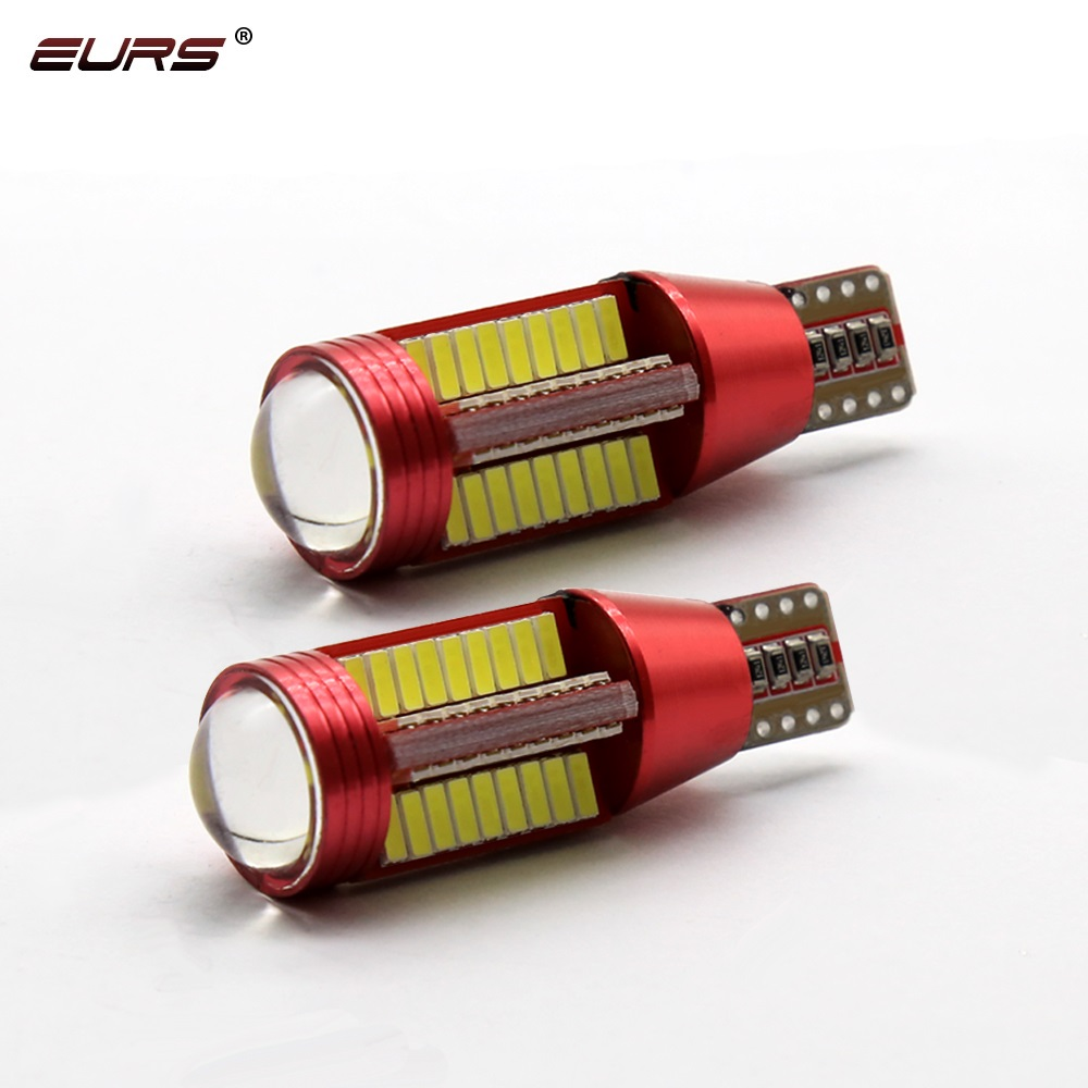 EURS 2pcs High Power <font><b>T10</b></font> 501 194 W10W <font><b>4014</b></font> LED 78SMD Car <font><b>Canbus</b></font> Error Free Wedge Dome License Plate Light Lamp New Styling White image