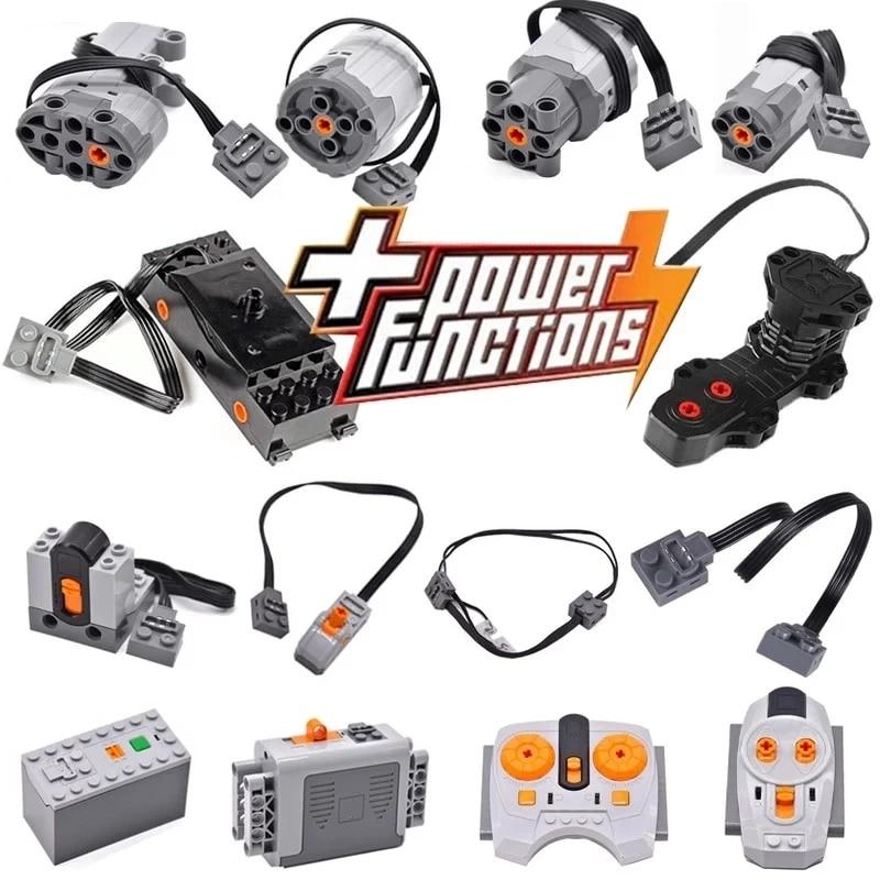 Technical Motor Parts Multi Power Functions 8293 8883 Tool Servo Train Motor PF Model Sets Building Blocks Compatible All Brands
