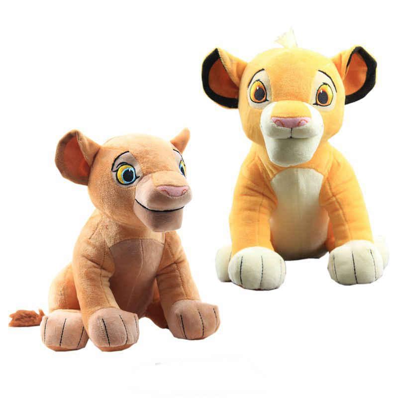 Yüksek kalite 30cm aslan kral 1 adet oturma yüksek 26cm Simba Nala peluş oyuncak yumuşak doldurulmuş hayvanlar bebek çocuk noel hediyesi sıcak