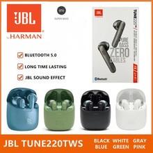 JBL T220TWS אמיתי אלחוטי Bluetooth אוזניות JBL מנגינה 220TWS סטריאו אוזניות בס אוזניות קול אוזניות עם מיקרופון