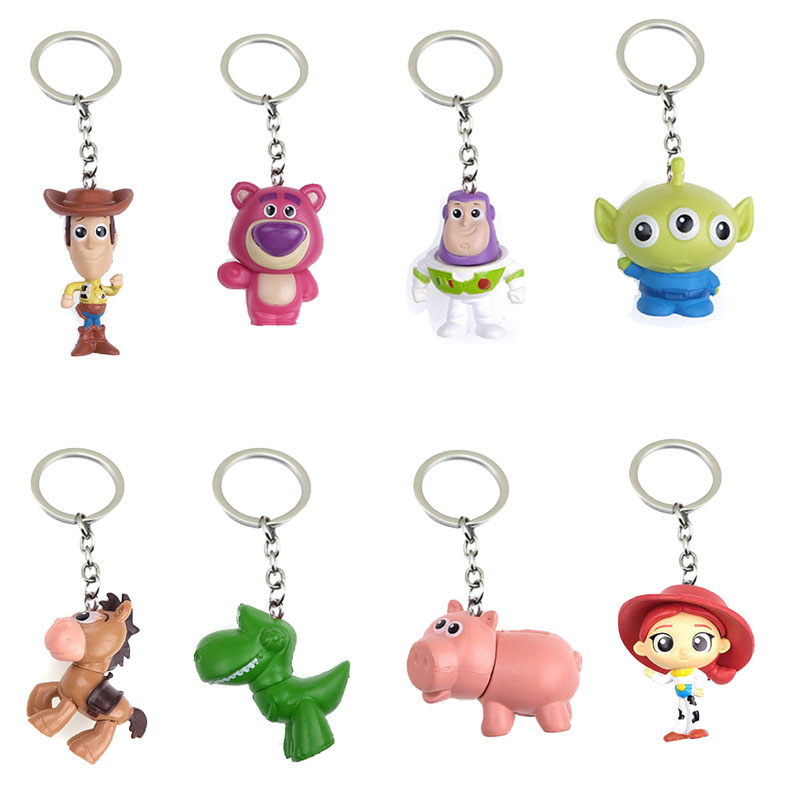 Anime Toy Story Keychain Cute Key Chains Accessories Small Toy Gift Fashion Keyring For Women Children Jewelry