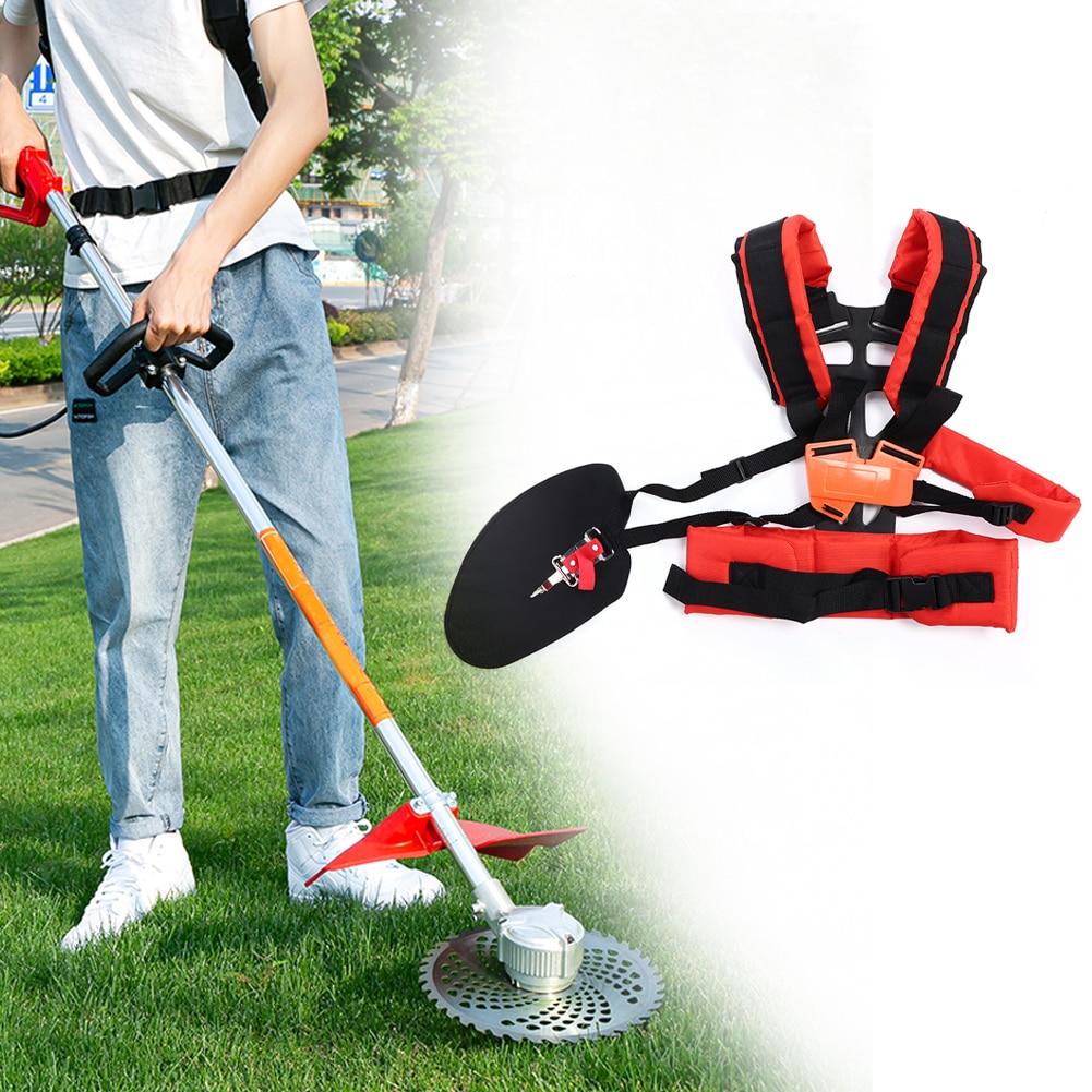 Universal Lawn Mower Strap Adjustable Trimmer Double Shoulder Strap Lawn Mower Waist Belt Lawn Mower Straps For Brush Cutter