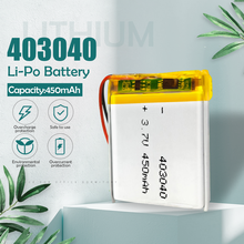 Batería recargable de iones de litio para coche, 3,7 V, 450mAh, 403040, li-po, MP3, MP4, GPS, tacógrafo, Bluetooth, DVR, altavoz, celdas