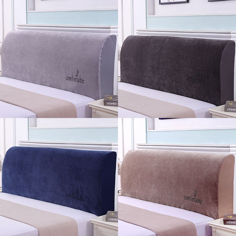 Chenille Fabric Full Cover Bedside Cover Embroidered Soft Cover Dust Cover Thickened Simple Cover Protective Cover Elastic Cloth