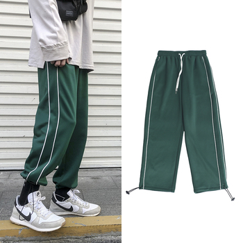 Sweatpants Men's Fashion Solid Color Casual Joggers Pants Men Streetwear Hip Hop Loose Gym Track Pants Male Straight Trousers autumn new joggers pants men fashion contrast color casual sweatpants men streetwear loose hip hop trousers man track pants