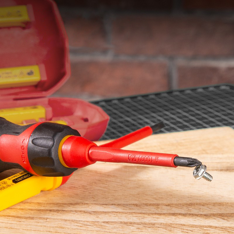 Tools : deli Insulated Screwdriver Set CR-V Screw Magnetic Phillips Slotted Screwdrivers VDE Electrician Durable Hand Tools 1000V