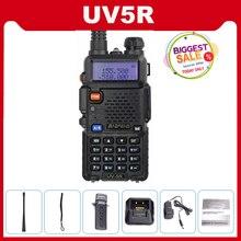 Walkie talkie baofeng uv 5r uv5r, rádio cb 5w 128ch vhf uhf banda dupla baofeng UV 5R dois way ham radio comunicador scanner