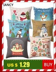 Santa Deer Pattern Christmas Cushion Cover Decorative Throw Pillow 45*45cm Polyester Pillowcase Xmas New Year Home Decor 40543 15