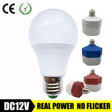 E27 LED หลอดไฟ 3W 6W DC 12 V 24V 36V LED หลอดไฟ LED หลอดไฟ LED AC 9W 12W ประหยัดพลังงาน Lampada LED 12 โวลต์หลอดไฟสำหรับโคมไฟกลางแจ้ง