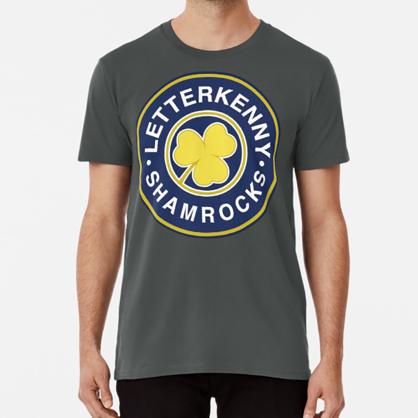 Letterkenny Shamrocks Hockey T Shirt Hockey Letterkenny Comedy Canada Fight On Site Letterkenny Problems Tgk Films image
