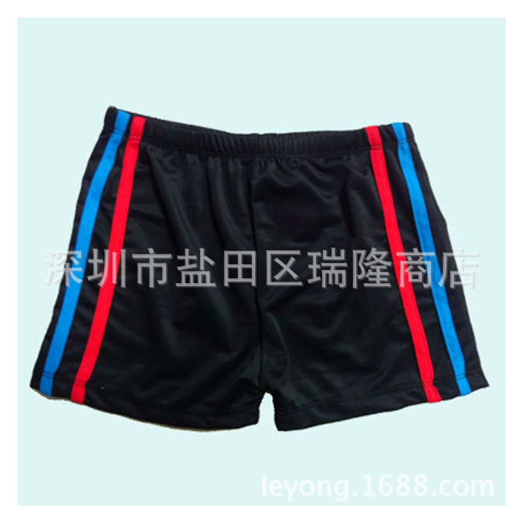 Le Yong Style New Style Big Kid Dacron Swimming Trunks Bandage Cloth Children AussieBum Four Corners Swimming Trunks 10-14-Year-