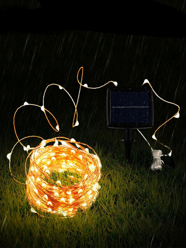 Outdoor Garland Fairy-Lights Solar-Power-Lamp Garden-Decoration Christmas Led Waterproof