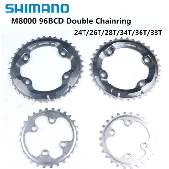 Shimano Deore XT M8000 96BCD Double Chainring 38-28 36-26 34-24t Round Positive And Negative Tooth 96bcd Crown система shimano deore m610 170мм ин вал 42 32 24t с кареткой серебристый efcm610c224xs