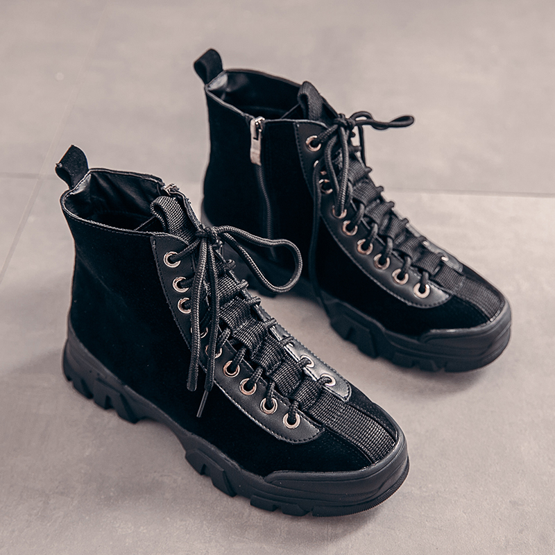 2019 Winter Women Boots Roman Style Shoes Women Bota Feminina Designer Sneakers Lace Up Buty Damskie Ankle Boots for Women