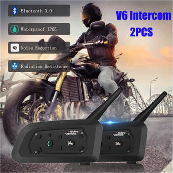 Pro Motorcycle Helmet Intercom 2PCS Bluetooth Helmet Headsets For 6 Riders 1200m Wireless Intercomunicador Waterproof Interphone - DISCOUNT ITEM  45% OFF All Category