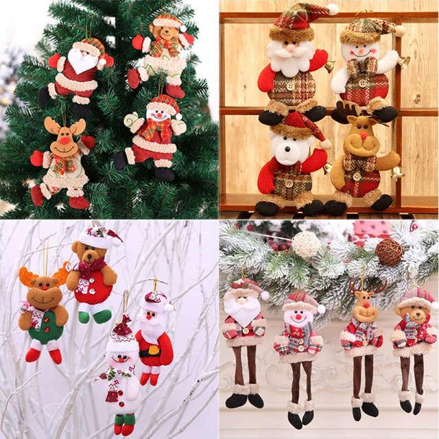 Cute Christmas.Us 1 07 40 Off New Year 2020 Cute Christmas Dolls Santa Claus Snowman Elk Noel Christmas Tree Decoration For Home Xmas Navidad 2019 Kids Gift In