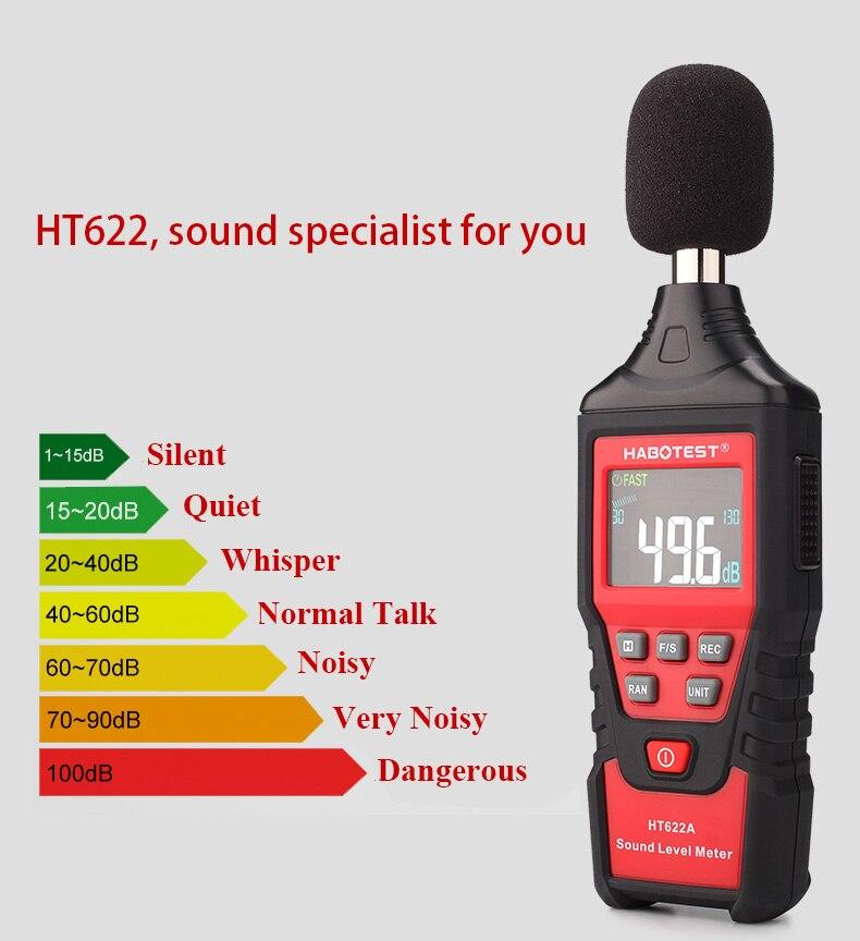 Купить habotest 622b шумомер измерительный прибор дб 30 ~ 130 мини