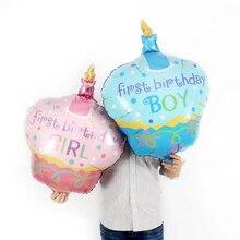 1pcs Large birthday candle cake aluminum balloon boy girl baby birthday party decoration foil balloon candle birthday girl decoration birthday supplies cake candle cake decorating princess girl pumpkin car birthday candle