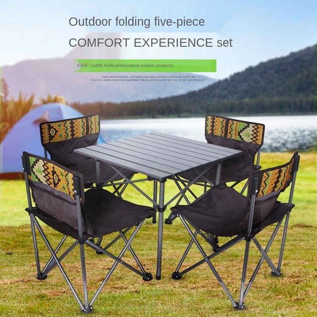 Outdoor Folding Camping Table Chair Set  3