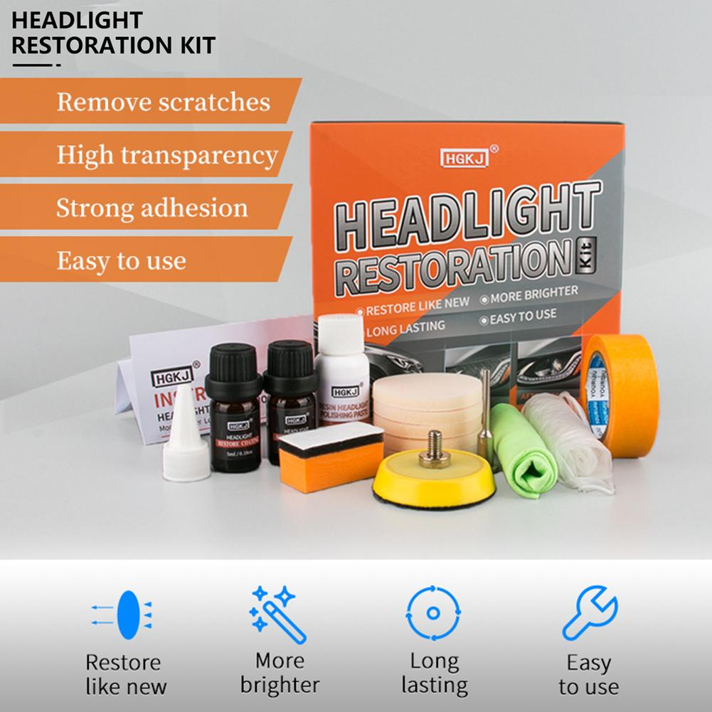 New Set 30ML Polishing Headlight Agent Anti-scratch Brightening Car Headlight Oxidation Repair Lamp Renovation Agent Paint Care